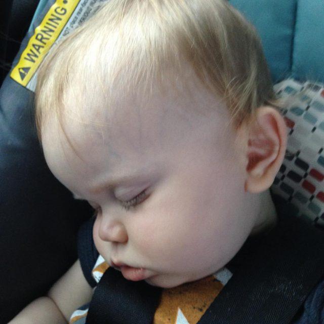 Road tripping to see great grandparents is hard work! sleepybabyhellip