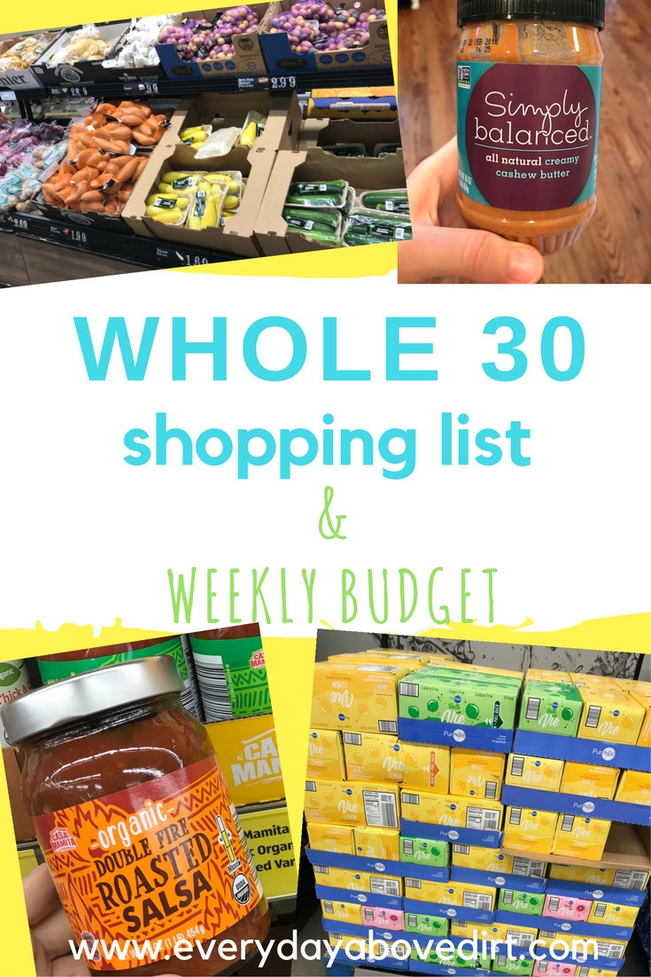 Whole 30 is such a healthy way to eat but it can be difficult to know what to buy. That's why I've come up with an easy Whole 30 Shopping List.