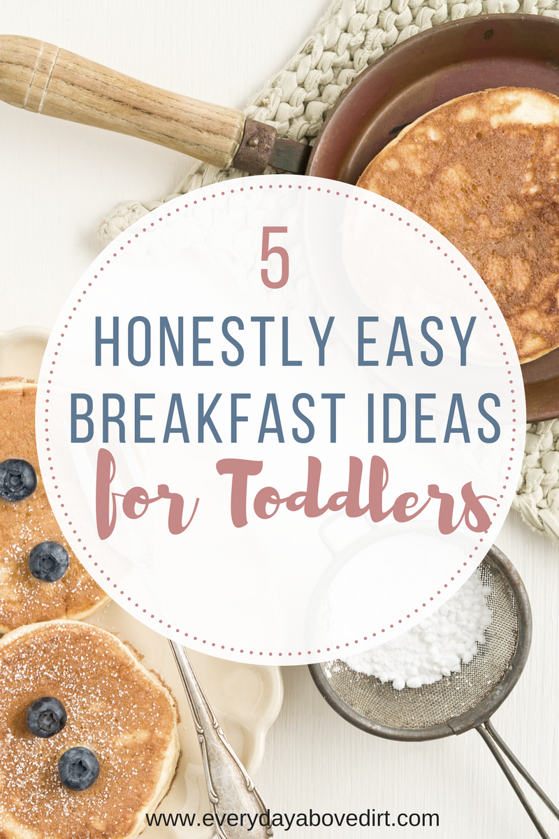 Breakfast is the most important meal of the day but can also be the most chaotic time of day. That's how I came up with these easy breakfast ideas for toddlers.
