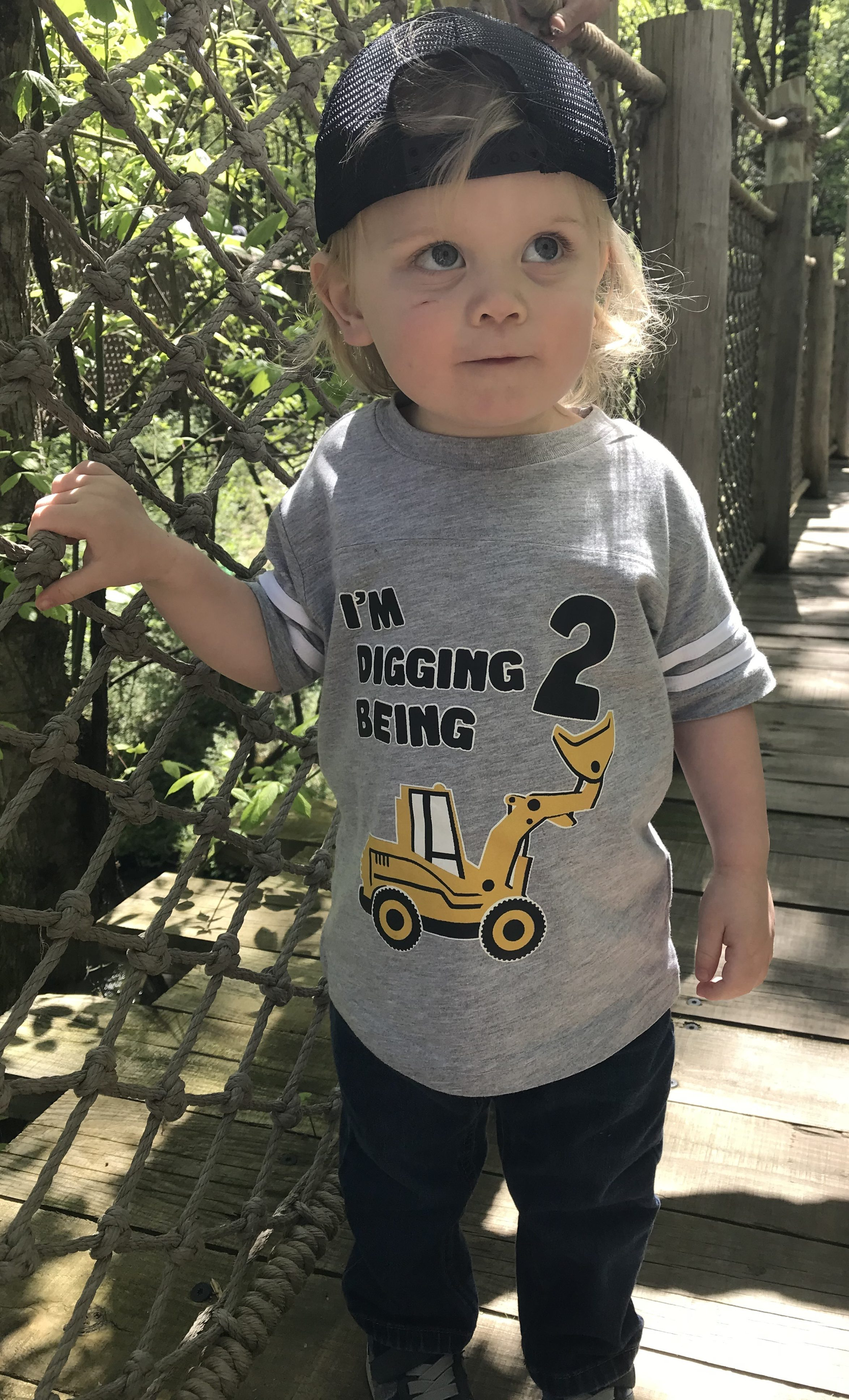 Truck Themes 2 Year Old Birthday Shirt