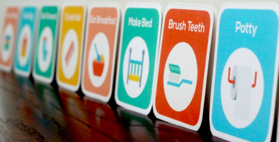 Printable Routine Cards are a great visual for your toddler.