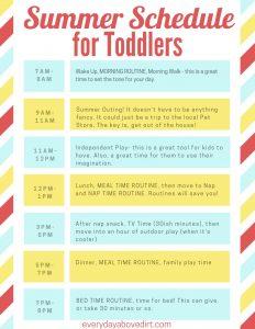toddler schedules