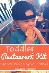 Toddler Restaurant Kit Ideas