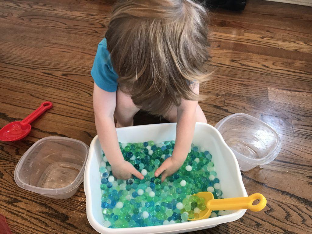 no mess sensory play