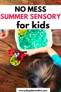 no mess sensory play
